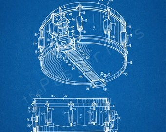 Drum Printable | Snare Drum | Drum Wall Art | Drum Art | Drum Print | Drum Decor | Music Art | Patent Print | Drummer art | Drummer Gift