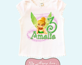Tinkerbell Personalized Birthday Shirt