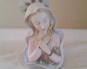 lefton Madonna/lefton/madonna figurines/lefton figurine/vintage lefton/religous figurine