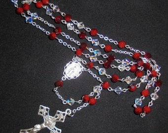 Swarovski 6mm Crystal Beads & Sterling Silver Rosary