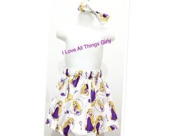 Tangled Rapunzel Skirt for Girls Toddler, Disney Trip, Birthday Party