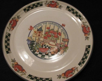 Colorful Gardeners Plate