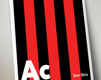 AC Milan A3 print - limited edition