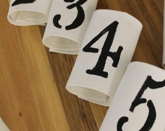 FarmHouse  Napkin Wraps: French Farmhouse Napkin Wraps- (Set of 6)