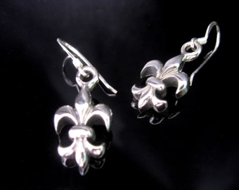 Bourbon Lily earrings Silver 925 earrings