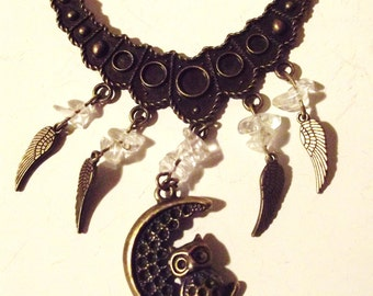 "Necklace ""the Crystal OWL"""