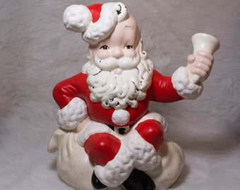 PRICE REDUCED - Large Vintage Ceramic Santa Claus - Vintage Santa - Vintage Christmas - Christmas Decor - Vintage Christmas Decor