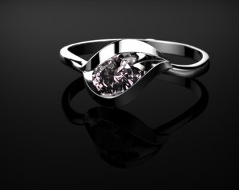 Pink Sapphire Ring Sterling Silver Engagement Ring Silver Pink Sapphire Ring Pink Gemstone Engagement Ring Pink Sapphire Ring October  Ring