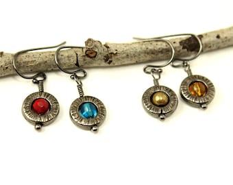Gunmetal Orb Earrings