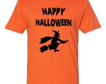 Funny Halloween Shirt Happy Halloween Witch Shirt Funny T-Shirt Halloween Party Halloween Costume Halloween Outfit Mens Ladies Tee - JM261
