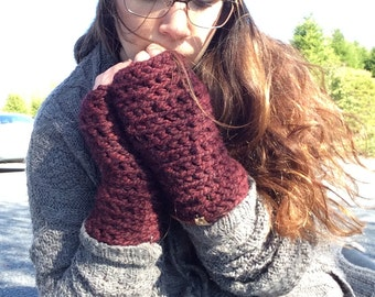 Maroon Fingerless Gloves