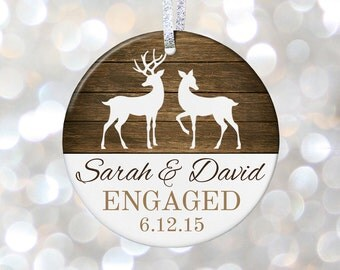 Personalized Engagement Gift Idea for Couples Gift for Engaged Couple Gift New Engagement Ornament, Engagement Present