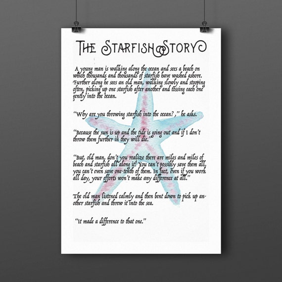 picture regarding Starfish Story Printable named Starfish Tale Pdf -