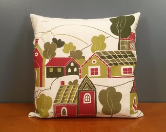 "Pillow cover - Houses - size 16x16"" / 40x40cm (P10)"