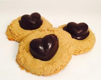 Peanut Butter Blossoms, Valentine's Day, Gluten Free, Milk Chocolate, Dark Chocolate, White Chocolate, Low Sugar, Protein, Anniversary,Heart