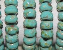 Small Roller Beads 6x9mm 25 Pcs Big Holes