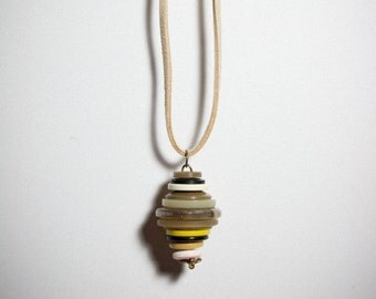 Vintage Button/Found Object Necklace