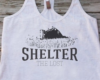 Shelter the Lost Animal Rescue Ladie's Tank