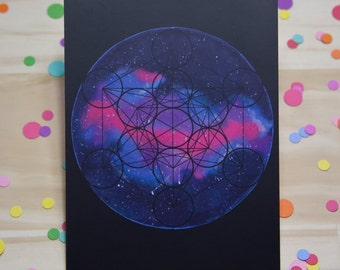 Galaxy Geo Print in Black