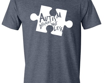 ADULT Unisex Autism Different Not Less Tee