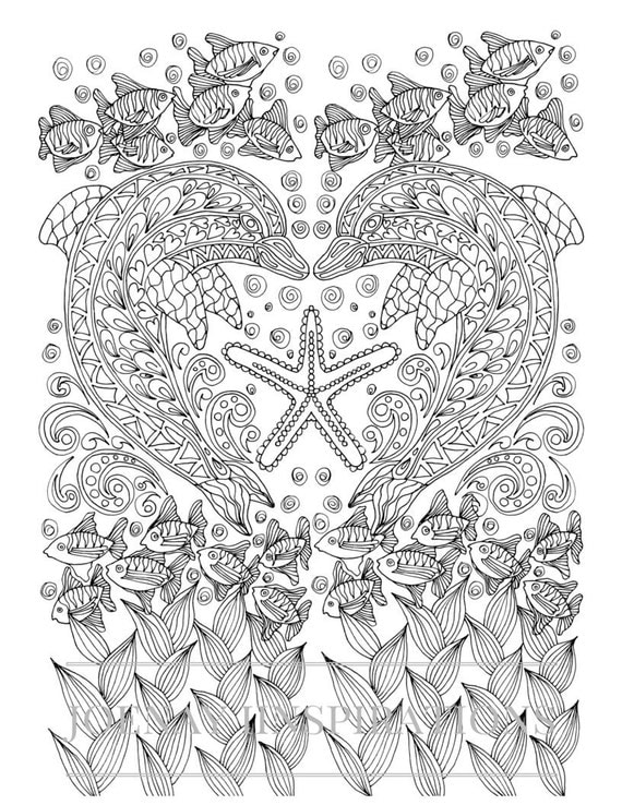 Adult Coloring Book, Printable Coloring Pages, Coloring Pages, Coloring Book for Adults, Instant Download, Treasures of the Ocean 2 page 6