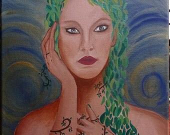 "Painting on canvas ""Demeter""-acrylic paint, Paint on canvas, acrylics"