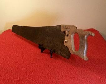"""Handsaw Keen Kutter 26"""" Skew Back Crosscut 9 Point Wood Handle Saw"""