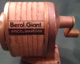 Vintage pencil sharpener, Berol Giant, APSCO sharpener, Industrial sharpener, Industrial, pencil sharpener, pencil, vintage desk accessory