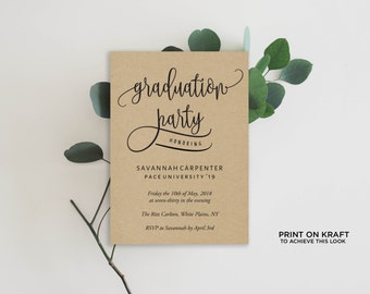 grad party invite | etsy, Party invitations