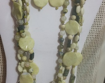 Yellow Turquoise & Olive Jade Set