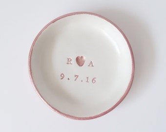 Personalised wedding Ring dish, initials, ring bowl, ring cushion, wedding gift, ring bearer, wedding day gifts, wedding day