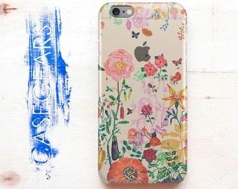 Clear Phone Case Transparent iPhone Case Flower iPhone 6s Case Summer Clear iPhone 6 Plus Case Floral iPhone 6s Plus Case Samsung S6 CG1049