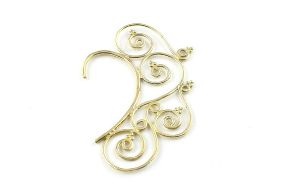Golden Boho Ear Wrap, Ear Cuff, Boho Jewelry, Tribal Ear Jewelry,  Festival Jewelry, Gypsy, Ethnic, Hippie Jewelry