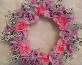 Spring Centerpiece, Candle Centerpiece, Flower Centerpiece, Round Centerpiece