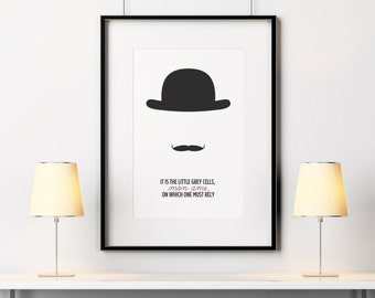Hercule Poirot quote, Agatha Christie quote, Poirot poster, Poirot print, INSTANT DOWNLOAD