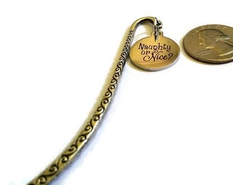 bookmark - Christmas - Christmas gift - silver bookmark - Christmas bookmark - stocking stuffer - shepherd's crook - charm bookmark