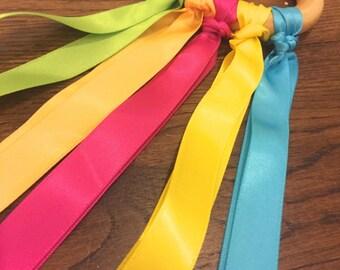 Bright Montessori Hand Kite (Satin Ribbon Dancer)