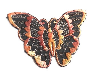 Applique,butterfly applique, 1930s vintage embroidered applique. Vintage patch, sewing supply. #5E8G96K5D
