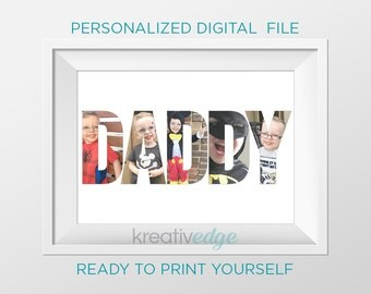 PRINTABLE NAME Photo, personalized! Any name and any size you like! Birthday Gift idea for Dad, Grandad, Poppy, Papau, Pappy, Pappa, etc