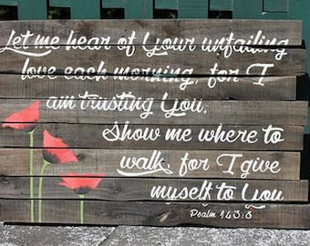"Reclaimed Wood Wall Art ""Unfailing Love"""