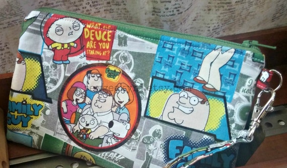 Family Guy Wristlet Peter Griffin Zippered Pouch Stewie