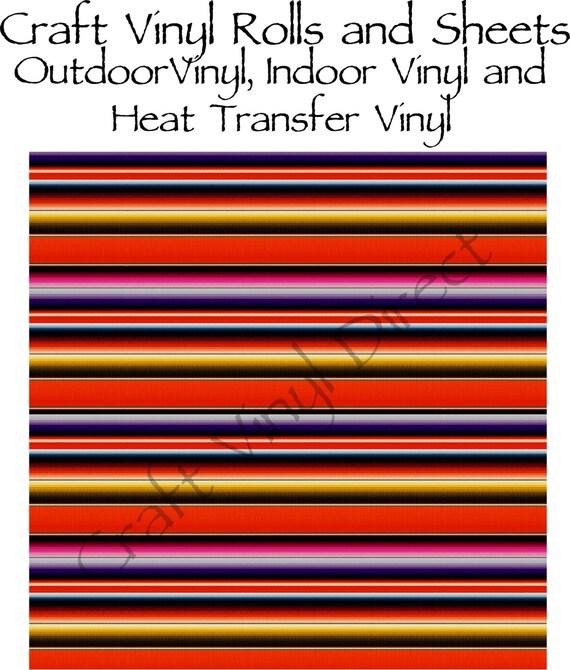 Beautiful, Vibrant Patterned Craft Vinyl and Heat Transfer Serape Pattern 227