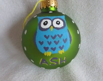Custom Owl Ornament with Name