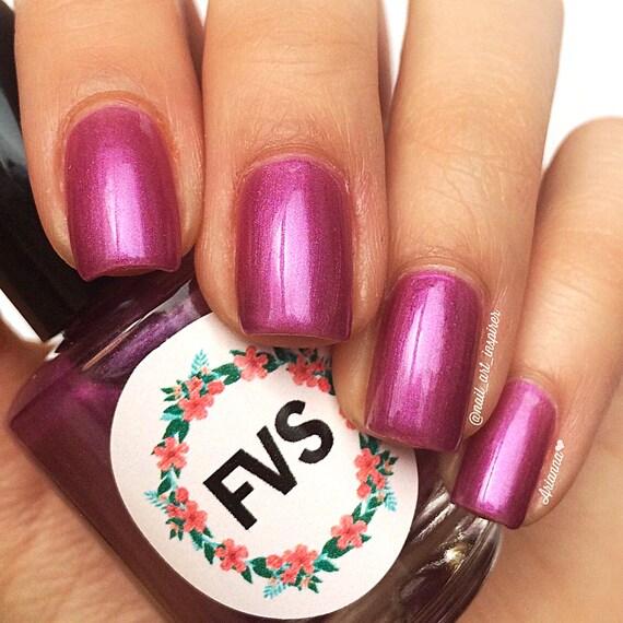 Pink Purple Nail Polish: Wild Iris Hot Pink Purple Nail Polish Vegan Nail By