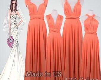 Bridesmaid Gift,Bridal Party Gifts,Coral Dress,Bride,Bridesmaid Dress,Party Favors,Gifts For Bridesmaid,Bride Gift,Long Dress