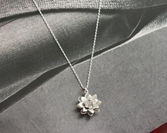 Lotus Flower Necklace, Petal Necklace, Beautiful Necklace, Elegant Necklace, Anniversary Gifts, Bridesmaid Gifts, Adorable Necklace