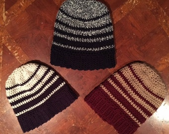 Striped Slouchy Beanie