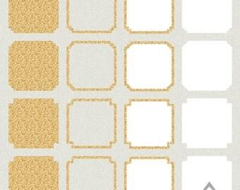 gold glitter frames square digital frame tribal frame clipart basic gold frames png files silhouette frames clip art aztec glitter