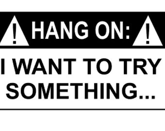 Calling All Jeep Owners - Hang On: I Want To Try Something... - Jeep Sticker, Jeep Decal, Free Shipping