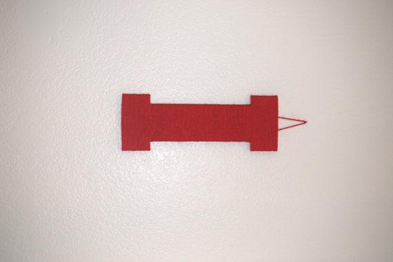 Nursery Letter, Red Yarn Letter I, Wooden Wall Hanging, Nursery ...